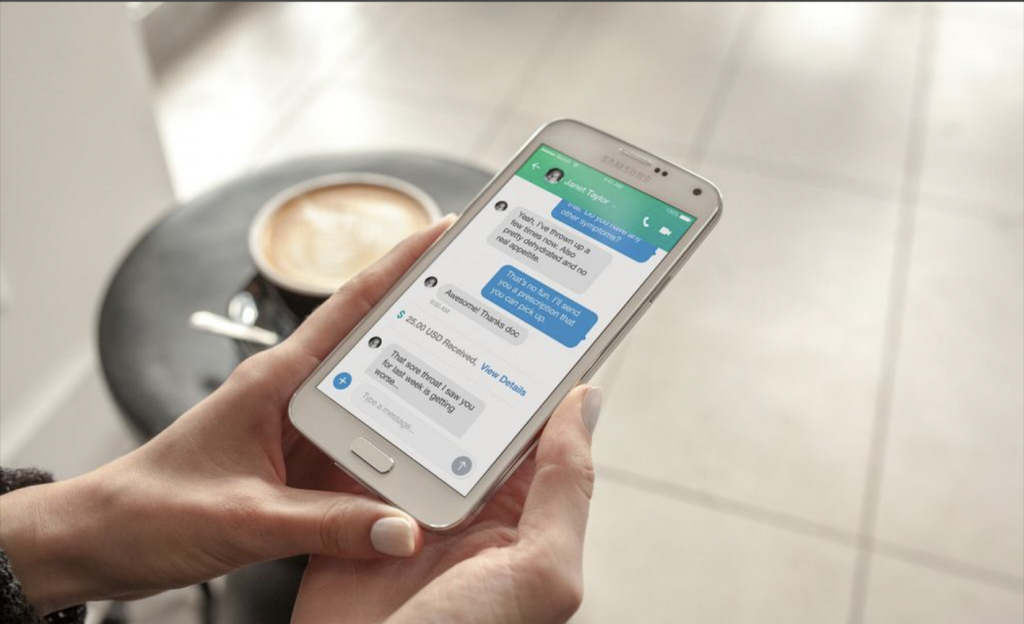 A phone screen displaying Medici doctor patient chat.